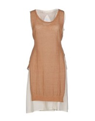 Tela Short Dresses Camel