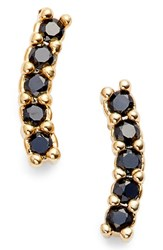 Five And Two Meg Crystal Ear Crawlers Onyx Gold
