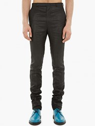 Paul Smith Black Metallic Finish Slim Fit Trousers