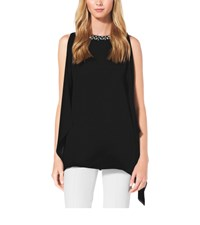 Michael Kors Embellished Silk Georgette Tunic