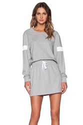 Norma Kamali Kamalikulture Boyfriend Sweat Dress Light Gray