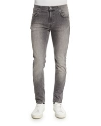 Nudie Jeans Thin Finn Dark Pavement Skinny Leg Jeans Light Gray Ltgray