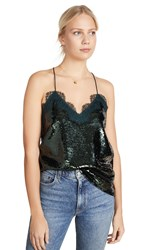 Cami Nyc The Racer Sequin Top Hunter