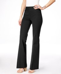 Inc International Concepts Curvy Fit Flare Leg Trousers Only At Macy's Deep Black
