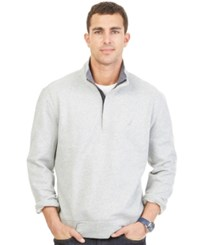 Nautica Quarter Zip Front Fleece Grey Heather
