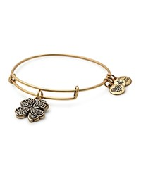 Alex And Ani Four Leaf Clover Expandable Wire Bangle Rafaelian Gold