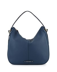 Cole Haan Iris Large Leather Hobo Bag Deep Lake