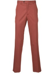 Gieves And Hawkes Tailored Fitted Trousers Brown