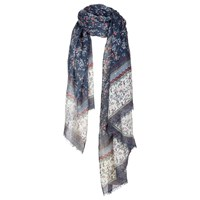 Fat Face Ditsy Floral Scarf Navy Multi