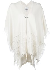 Barrie Shortsleeved Poncho White