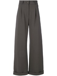 Societe Anonyme Long Brunch Trousers Women Wool 40 Grey