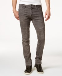 Ring Of Fire Men's Slim Fit Rexford Asphalt Wash Ripped Moto Jeans Only At Macy's
