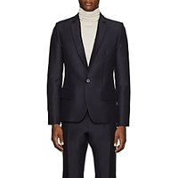 Martin Grant Wool Silk Cady One Button Sportcoat Navy
