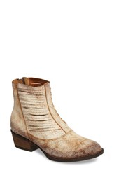 Sbicca Women's Jeronimo Western Bootie White Leather