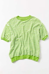 Urban Renewal Vintage A 90S Green White Terry Stripe Tee Assorted