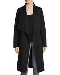 Joseph New Live Double Face Wrap Jacket Black Gray