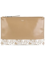 Rochas Midi 'Leti' Clutch Nude And Neutrals