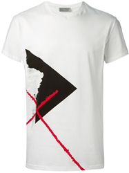 Christian Dior Dior Homme Abstract Print T Shirt White
