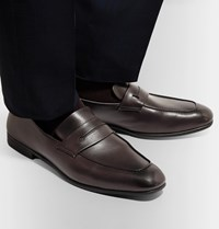 Ermenegildo Zegna L'asola Leather Penny Loafers Brown
