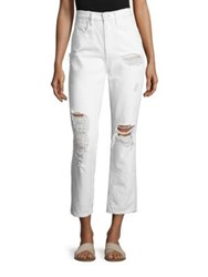 Alexander Wang Cult Cropped Distressed Jeans White