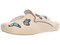 Patricia Green Butterfly Linen Lavender Women's Shoes Neutral