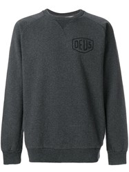 Deus Ex Machina Oversized Logo Sweatshirt Grey