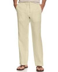 Tasso Elba Big And Tall Pants Linen Drawstring Pants Natural Linen