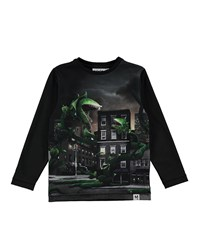 Molo Rexol Plant Attack Printed Long Sleeve T Shirt Size 4 10 Multi
