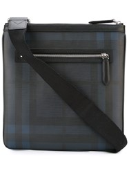 Burberry Checked Messenger Bag Blue
