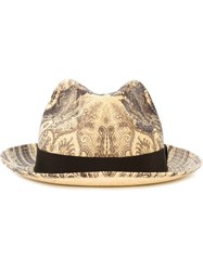 Etro Paisley Pattern Hat Nude And Neutrals