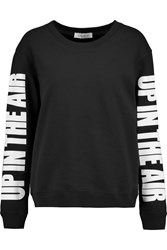 Sandro Up In The Air Cotton Jersey Sweatshirt Black