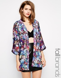 Girls On Film Petite Girls On Film Tall Floral Kimono Multi