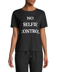 Romeo And Juliet Couture No Selfie Control Short Sleeve Tee Black
