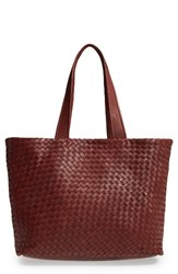 Robert Zur Leather Tote Bag Brown Luggage