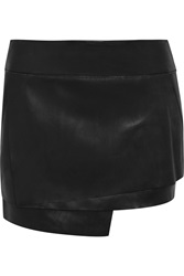 Helmut Lang Tiered Leather Mini Skirt
