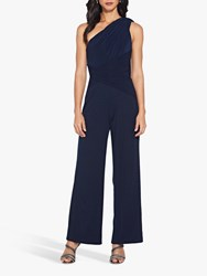 Adrianna Papell One Shoulder Jumpsuit Midnight