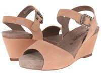 Mephisto Beauty Old Pink Velcalf Premium Women's Wedge Shoes Neutral