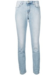 Versace Collection Beaded Skinny Jeans Blue