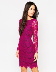 Traffic People Neverending Story Lace Bodycon Dress Purple