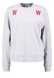 Wood Wood Wednesday Sweatshirt Grey Melange Mottled Grey