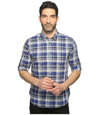 John Varvatos Mitchell Slim Fit Button Down Collar Sport Shirt With Roll Up Sleeve And Single Chest Pocket W387t1b Cobalt Men's Clothing Blue