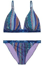 Matthew Williamson Stretch Knit Bikini Blue