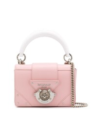 Balmain Mini Box Crossbody Bag Pink