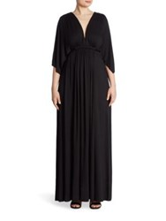 Rachel Pally Plus Size Long Caftan Dress Black