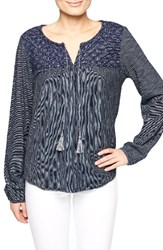 Sanctuary Women's Poetta Embroidered Knit Peasant Top