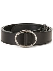 Lanvin Hoop Closure Belt Black