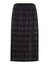 Therapy Pleated Foil Skirt Black