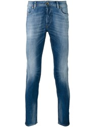 Diesel Stonewashed Slim Fit Jeans Blue