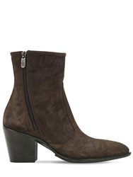 Rocco P. 60Mm Zipped Suede Ankle Boots Military Green