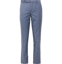 Paul Smith Soho Slim Fit Prince Of Wales Checked Wool Suit Trousers Blue